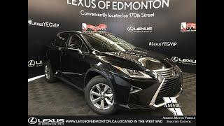 Black 2019 Lexus RX 350 Standard Package Review Edmonton Alberta - Lexus of Edmonton New