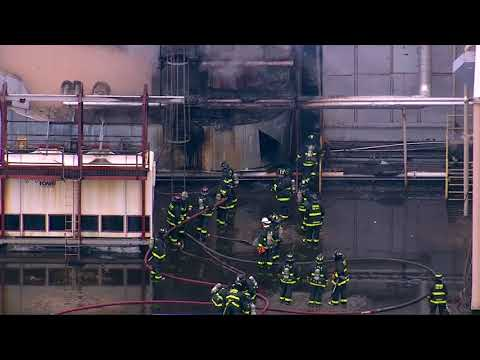 RAW VIDEO: Fire at Blommer Cho blommer chocolate