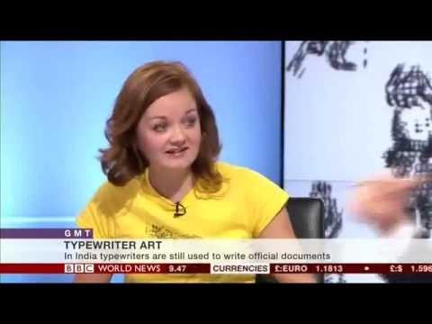 Keira Rathbone Artist on BBC World News
