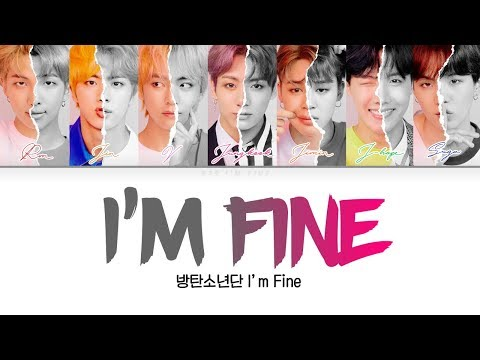 BTS (방탄소년단) - I'm Fine [Color Coded Lyrics Han/Rom/Eng/가사]