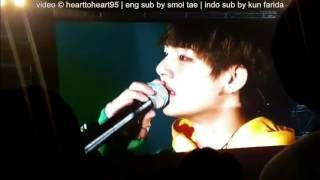 indo sub 161112 ending ment bts v talking about his grandmother s passing bts 3rd muster