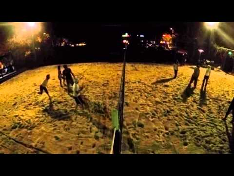 Night Volley at Sports Page Bar/Grill :) fun stuff!