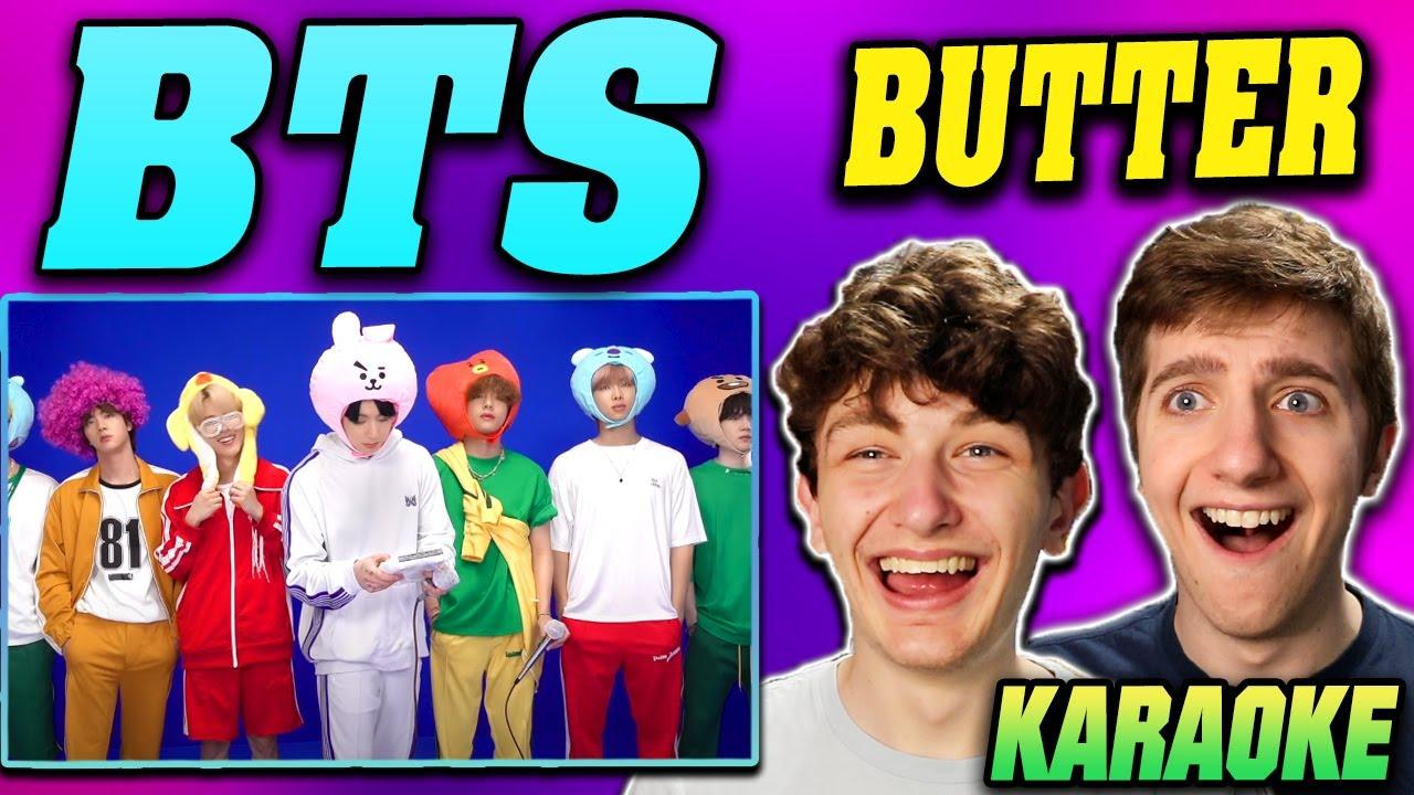 BTS - 'Butter' in 노래방 (Karaoke) REACTION!!