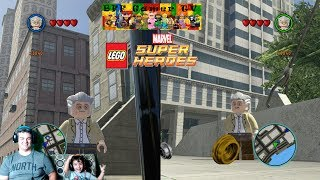 Mason and Daddy finally unlock Stan Lee and show off all his cool abiities in some free roam gameplay in Lego Marvel SuperHeroes / Lego Marvel Collection.