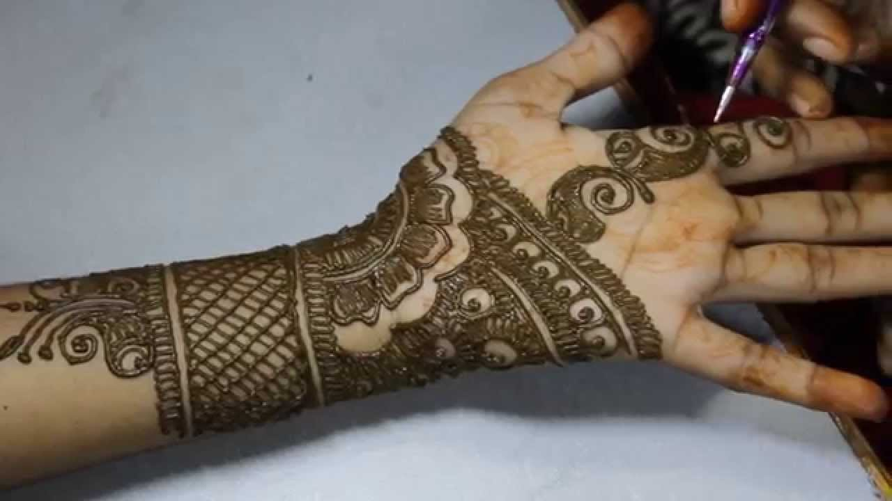 Simple Mehndi Designs For Full Hands Front And Back