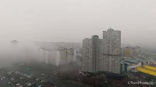 Туман в Киеве - Timelapse of morning fog in Kyiv
