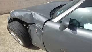 Car Crash! Little car and SUV.