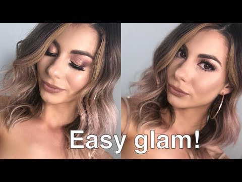 PINK AND BROWN EYE MAKEUP TUTORIAL | HUDA BEAUTY ROSE GOLD PALETTE