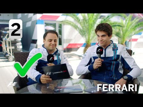 Williams Racing's Felipe Massa and Lance Stroll | F1 Grill The Grid 2017