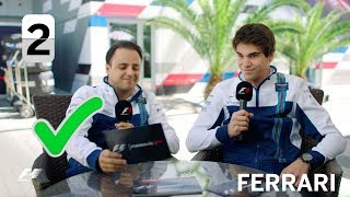 Williams Racing\'s Felipe Massa and Lance Stroll | F1 Grill The Grid 2017