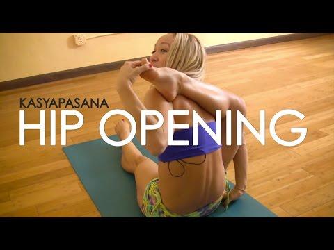 Advanced Hip Opening Yoga, Kasyapasana with Kino