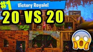 "Fortnite: ""TEAMS OF 20"" GAMEPLAY! *NEW* 20 VS 20 GAMEMODE UPDATE GAMEPLAY    Fortnite Battle Royale!"