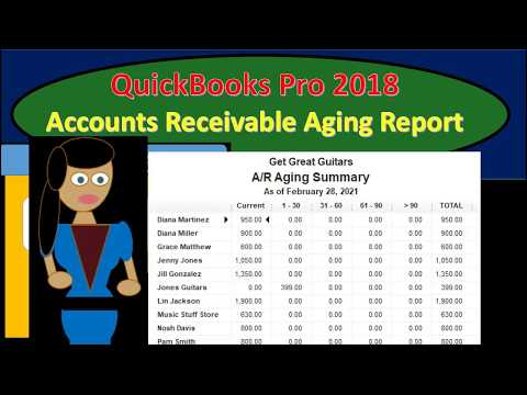 QuickBooks Pro 2018 Accounts Receivable Aging Report