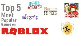 Top 5 most popular games on Roblox!