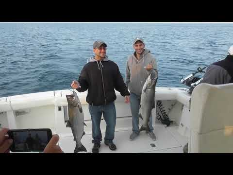 Lake Michigan Salmon Fishing (Ludington, Michigan)