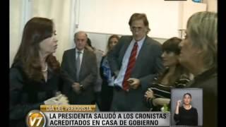 Visión 7: Saludos de la Presidenta por el Día del Periodista