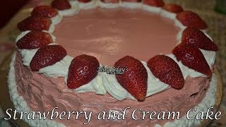 Stawberry And Cream Cake