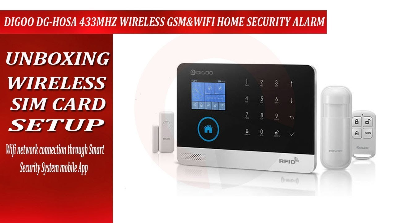 Captivating Digoo DG Hosa Setup 433MHz Wireless GSMu0026WIFI DIY Smart Home Security Alarm  Systems