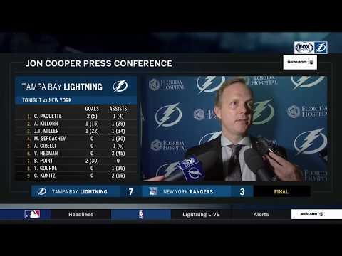 Jon Cooper -- Tampa Bay Lightning at New York Rangers 03/30/18