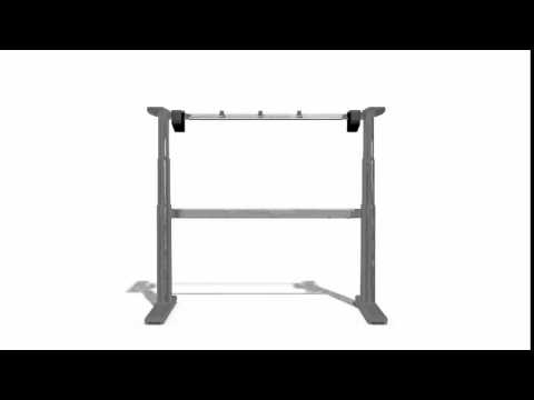 Aluforce 250M sit stand desk from Visual-Q Ltd