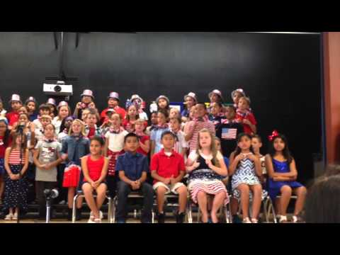 Third grade patriotic play for #memorialday Alta Murrieta Elementary school ~ California