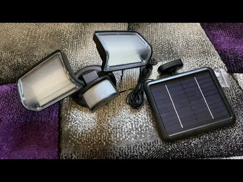 Solar Lights Outdoor XMCOSY Solar Security Lights Motion Sensor Waterproof unboxing and instructions