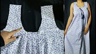 Easy Nighty Cutting and Stitching | Free Size | नाइटी कटिंग और स्टिचिंग