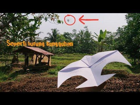 Membuat burung walet dari kertas lipat (kerajinan kertas origami)
