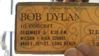 Bob Dylan Concert Tickets 1964-1968 - 13 Unused Examples