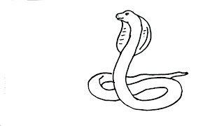 snake draw cobra drawing cartoon easy king line head drawings step rattlesnake steps animals clipartmag children lesson ladder realistic