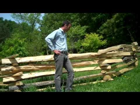 Making Split Rail Fence From Ash By Van Wagner