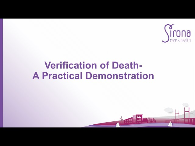 Verification of Death - A Practical Demonstration