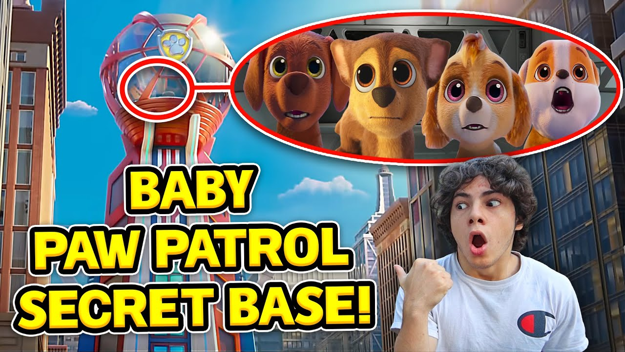 DRONE CATCHES BABY PAW PATROL'S SECRET BASE IN REAL LIFE!! (BABY CHASE AND SKYE)