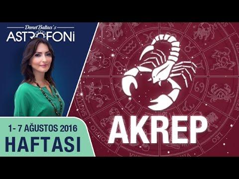 AKREP Burcu Haftalık Yorumu 01 - 07 Ağustos 2016