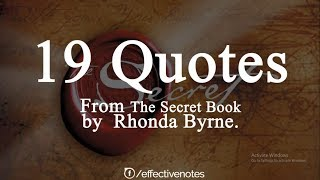 Download The Secret Book by Rhonda Byrne | 19 Quotes