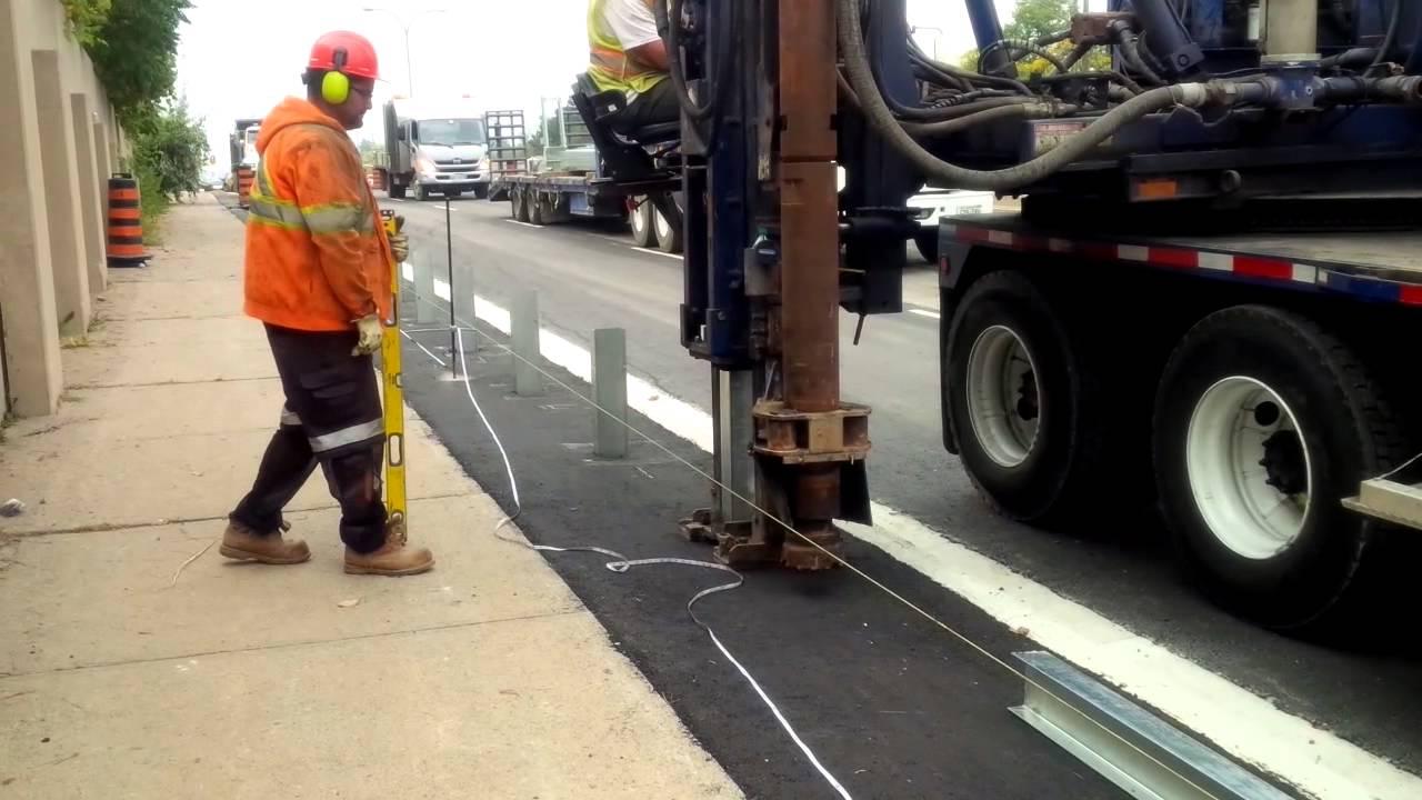 Guard Rail install - YouTube