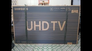 Samsung UHD TV 65 7 series RU7100 unboxing