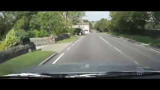 Yorkshire Road Trip dash cam driving  Darley, North Yorkshire.Driving on the left.