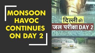 Monsoon havoc continues in Delhi-NCR: Traffic severely hit, flood warning issued