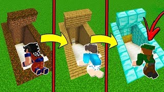 DE BASE SECRETA NOOB A BASE SECRETA PRO NO MINECRAFT!!