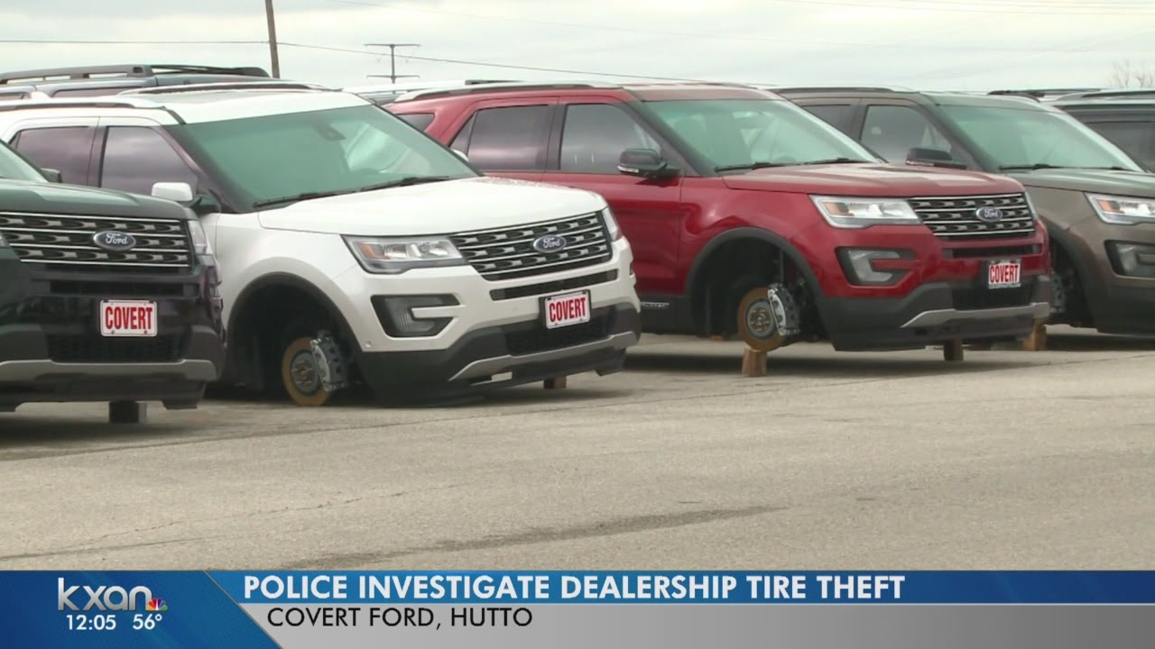 Nearly 50 tires stolen off vehicles at covert ford in hutto