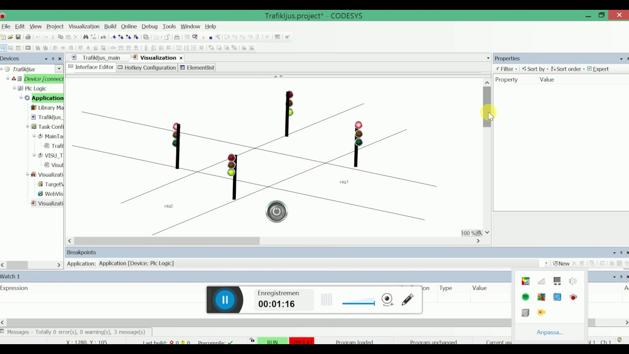 Traffic Light Diagram Iec Two Way Ladder Logic Codesys Youtube