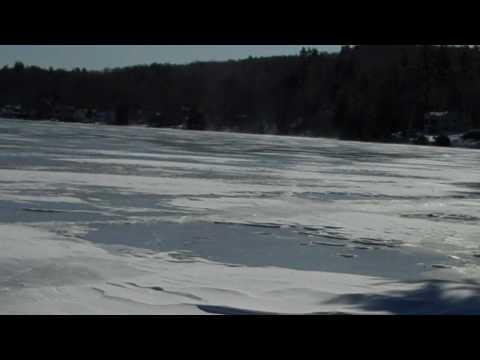 Ice Conditions Lake Winnisquam NH 1-29-2010