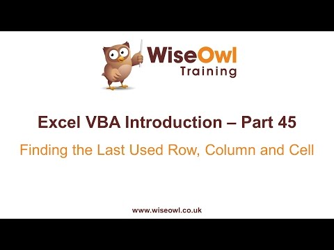 Excel VBA Introduction Part 45 - Finding the Last Used Row, Column and Cell