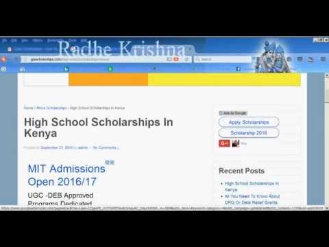 High School Scholarships In Kenya