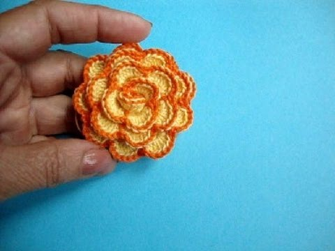 вязаные крючком цветы How To Crochet Flower урок 33 方法かぎ針編みの