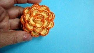 Вязаные крючком цветы How to crochet flower Урок 33 方法かぎ針編みの花へ(ТОВАРЫ ДЛЯ ВЯЗАНИЯ ИЗ КИТАЯ http://ali.pub/i9grj Подписаться на все новые видео-уроки по емайл: http://feedburner.google.com/fb/a/mail..., 2013-07-05T06:44:18.000Z)