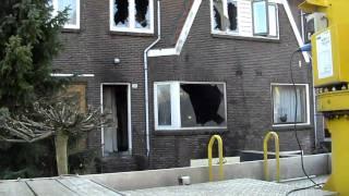 De schade van de brand op de Amsterdamse weg 294 Amstelveen 16/10/10