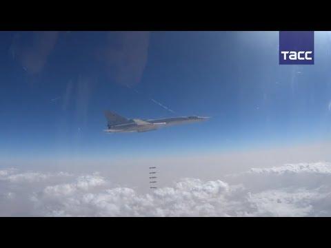 Видео нового удара самолетов ВКС по объектам боевиков в Сирии