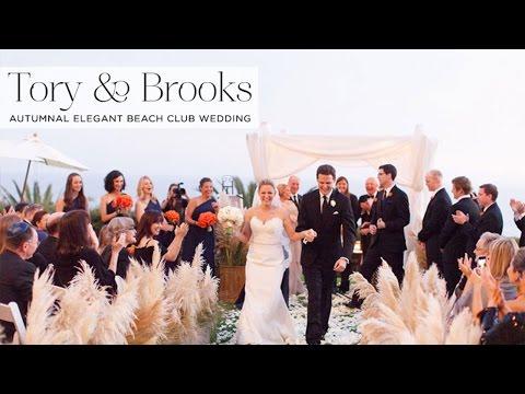Tory & Brooks | Beachside Jewish wedding at Bel Air Bay Club, California, USA